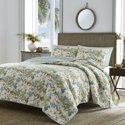 Dulcina 100% Cotton Reversible Quilt Set Size: Twin