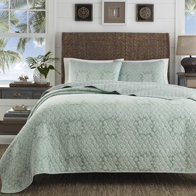 Tranquil Trail Cotton Quilt Set by Tommy Bahama Bedding Size: King