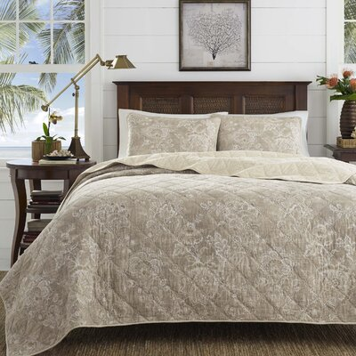 Tideway Jacobean Raffia Cotton Quilt Set by Tommy Bahama Bedding Size: King