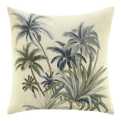 Serenity Palms Cotton Throw Pillow