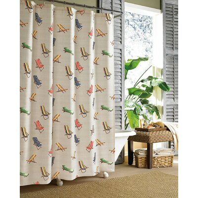 Beach Chairs Shower Curtain Size: 72 H x 84 W