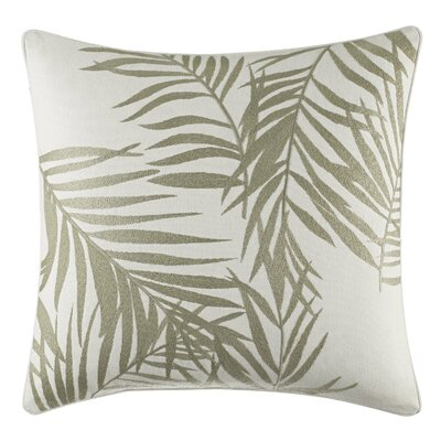 Palms Away Leaf Embroidery Throw Pillow by Tommy Bahama Bedding