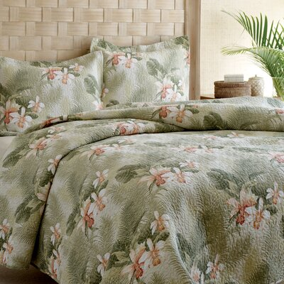 Tropical Orchid 3 Piece Reversible Quilt Set by Tommy Bahama Bedding Size: Twin
