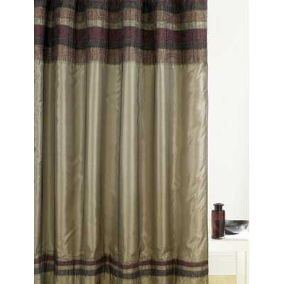 Low Price Manor Hill Patina Shower Curtain In Bronze