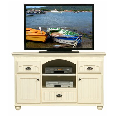 American Premiere TV Stand Finish: Soft White, Door Type: Wood