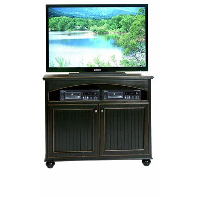 American Premiere 47 TV Stand Door Type: Wood, Color: Iron Ore