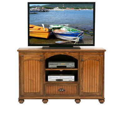American Premiere 57 TV Stand Door Type: Wood, Color: Havana Gold