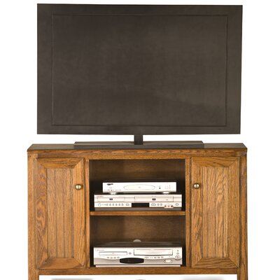 Adler TV Stand Finish: Caribbean Rum, Door Type: Wood Panel