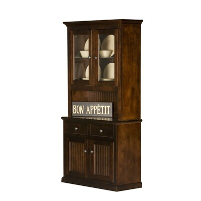 Eagle Furniture Manufacturing Coastal China Cabinet (2 Pieces) - Door Type: No Glass, Finish: Havana Gold at Sears.com