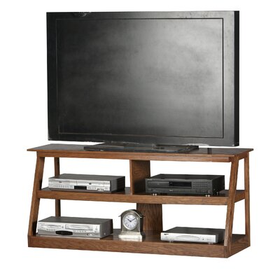 Adler 55 TV Stand Color: Dark Oak, Width of TV Stand: 24 H x 55 W x 18 D