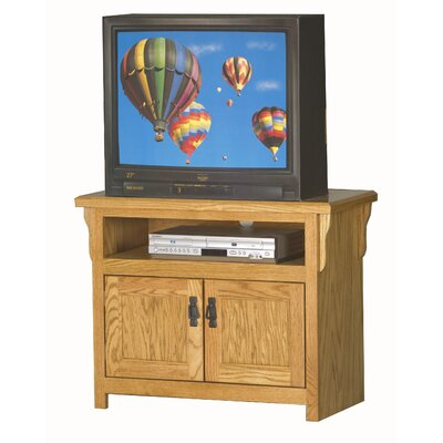 Mission 34-43 TV Stand Color: Light Oak, Width of TV Stand: 27 H x 34 W x 17 D