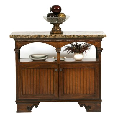 American Premiere Kitchen Island with Granite Top Door Type: Wood, Finish: European Gold
