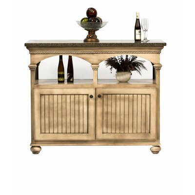 American Premiere Kitchen Island with Butcher Block Top Door Type: Wood, Finish: Black