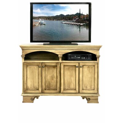 American Premiere TV Stand Door Type: Wood, Finish: European Gold