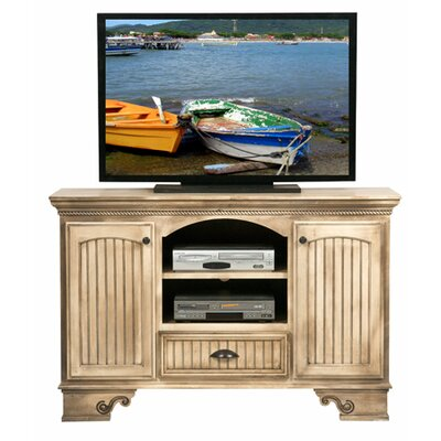 American Premiere 59 TV Stand Door Type: Wood, Color: European Gold