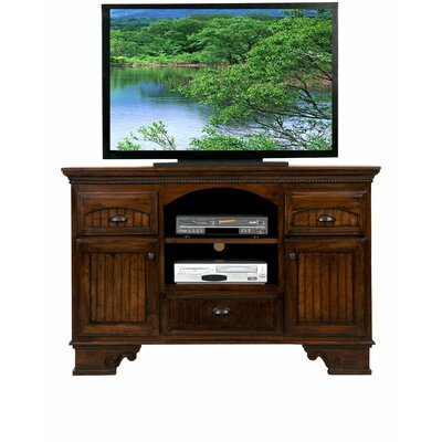 American Premiere 59 TV Stand Door Type: Wood, Color: European Coffee