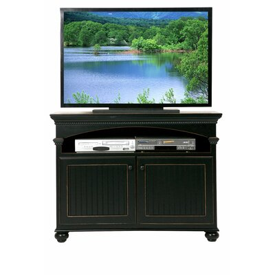 American Premiere 49 TV Stand Door Type: Wood, Color: Smoky Blue