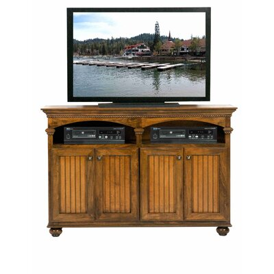 American Premiere TV Stand Door Type: Wood, Finish: European Cherry