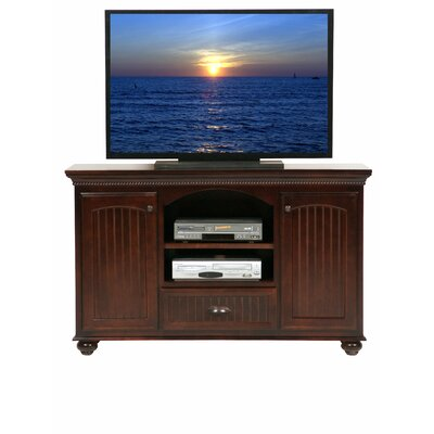 American Premiere 59 TV Stand Color: Bright White, Wood Species: Oak
