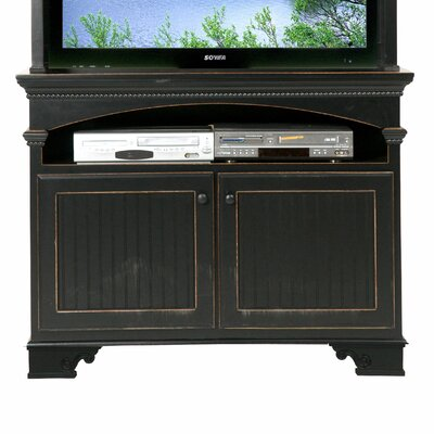 American Premiere 49 TV Stand Door Type: Wood, Color: Black