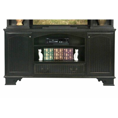American Premiere 80.75 TV Stand Door Type: Wood, Color: European Ivory