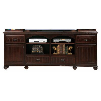 American Premiere 90 TV Stand Door Type: Wood, Color: Iron Ore