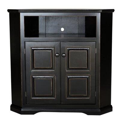 Eagle Furniture Manufacturing Savannah Corner TV Stand - Finish: Tempting Turquoise, Door Type: Plain Glass