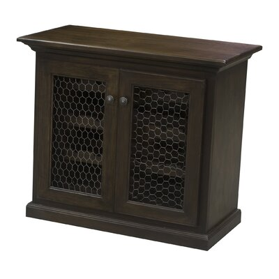 24 Bottle Floor Wine Cabinet Finish: Antique Black