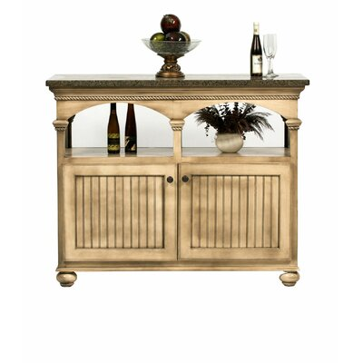 American Premiere Kitchen Island with Granite Top Finish: Soft White, Door Type: Wood