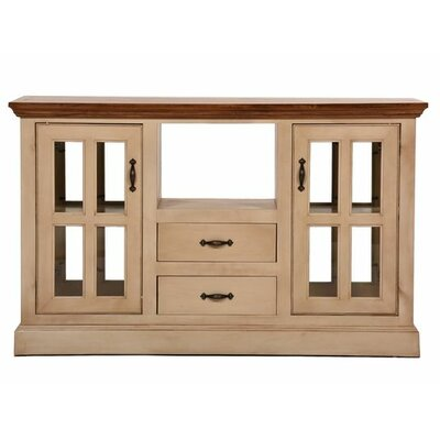 West Winds Kitchen Island with Solid Wood Plank Work Top Base Finish: Soft White