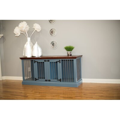 Fontana Double Wide Small Credenza Pet Crate