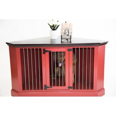 Cozy K-9 Medium Corner Credenza Pet Crate