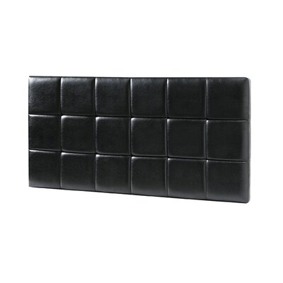 Natalia Padded Upholstered Panel Headboard Upholstery: Black, Size: Queen