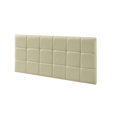 Natalia Padded Upholstered Panel Headboard Size: Queen, Upholstery: Cream