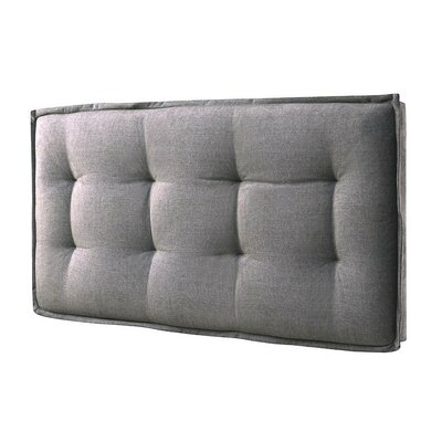Walther Tufted Upholstered Panel Headboard Size: Twin, Upholstery: Faded Gray
