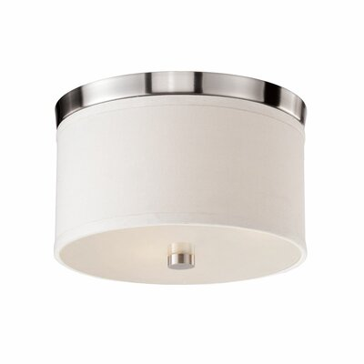 Albright 1-Light Flush Mount Finish: Nickel