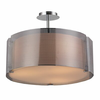 Lynch 3-Light Semi-Flush Mount