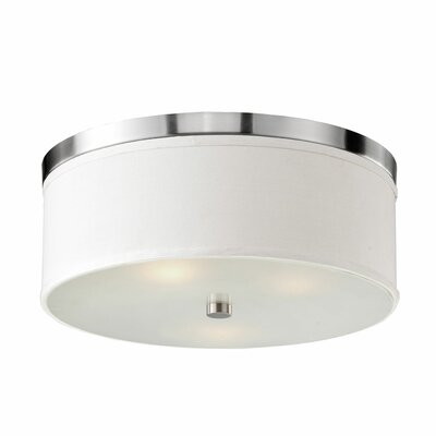Albright 3-Light Flush Mount Finish: Nickel