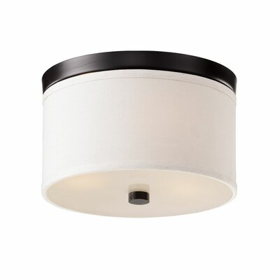 Braxton 1-Light Flush Mount Finish: Black