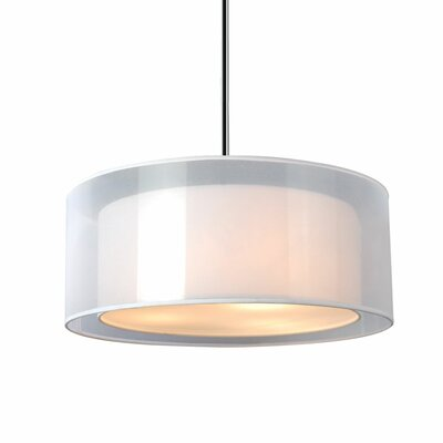 Latonya 2-Light Drum Pendant Size: 7.9 H x 20 W x 20 D