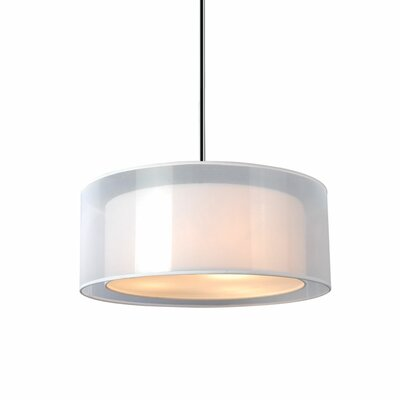 Phoenix 3-Light Drum Pendant Size: 7.9 H x 15 W x 15 D