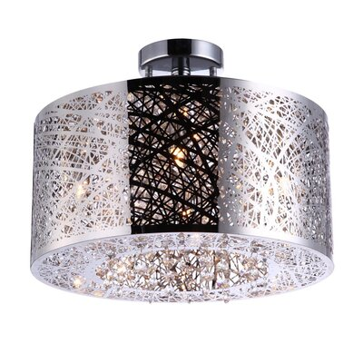 Alya 4-Light Drum Pendant