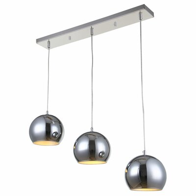Killough 3-Light 7.8 Shade Kitchen Island Pendant