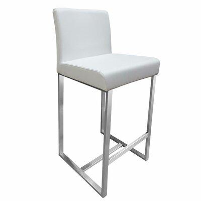 Stanton 26 Bar Stool Upholstery: White