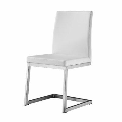 Manhattan Parsons Chair Upholstery: White