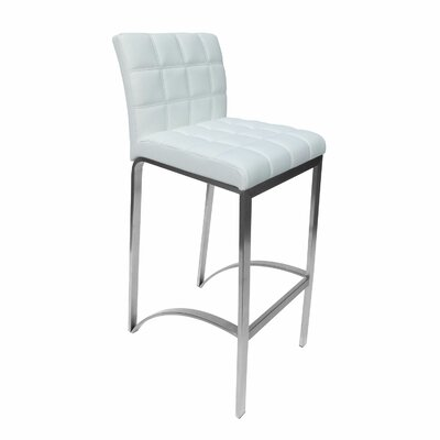 Lincoln 30 Bar Stool Upholstery: White