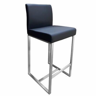 Stanton 26 inch Bar Stool Upholstery: Black