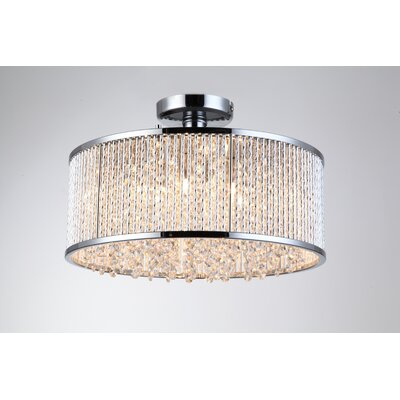 Chloe 6 -Light Semi Flush Mount