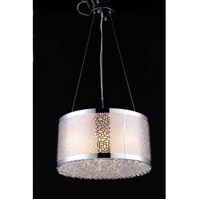 Zwilling Chandelier 6-Light Drum Pendant