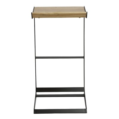 Ambleside 30 Bar Stool Color: Black